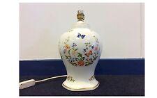 Aynsley Fine English Bone China Cottage Garden Hexagon Table Lamp - Used