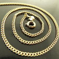 Necklace Chain Real 18k Yellow G/F Gold Solid Ladies Fine Curb Link Pendant