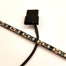 LED ROJO carcasa de PC luz (Individual 30cm Brighter tira) Molex 60cm Funda COLA