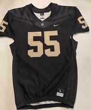 New Nike Men's L Purdue Boilermakers Vapor Pro Football Jersey #55 Black $120