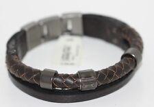 Fossil Men's Original Bracelet Leather Metal New