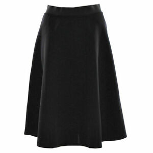 Women Flared Knee Length Skater Skirt Ladies Stretch Midi Office Work Skirt 8-26