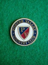 "Porter Valley Country Club Golf Ball Marker 1"" Metal Coin Northridge California"