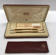 Vintage Cross 10k Gold Filled Women's  Pen & Pencil Set Westinghouse Electric