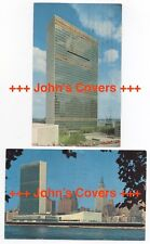 1954/57 UNITED NATIONS - 2 x NEW YORK HEADQUARTERS Real Photo Postcard Covers RP