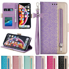WOMEN Lace Leather Case For iPhone XS MAX XR 7 8 Plus 6S Flip Card Holder Wallet