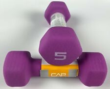 CAP Hex Neoprene 5 lb Pound Pair (10 total lbs) Dumbbell Gym Exercise Weights