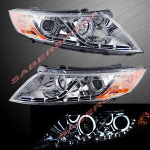 Pair Halo Projector Headlights w/ LED parking for 2011-2013 KIA Optima EX LX