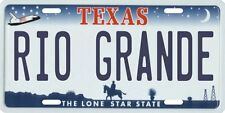 Rio Grande Texas Aluminum License Plate