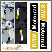 2x Rifrangenti Nero Giallo BMW Motorrad F 650 700 800 R 1150 1200 1250 GS A