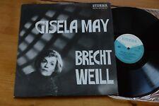 GISELA MAY Brecht Weil  LP ETERNA 8 20 427
