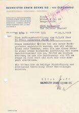 OLBERNHAU, Brief 1969, Baumeister Erwin Oehme KG