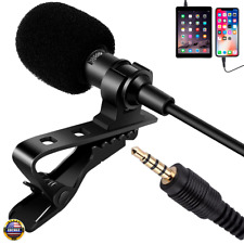 Us Clip-on Lavalier Lapel Microphone Omnidirectional For Mobile Smartphones Mic