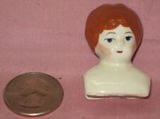 Ceramic Head To Make Doll House Size Doll-Red Hair
