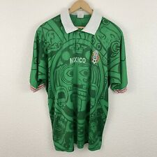 Vintage Vtg 90's Mexico National Home Soccer Jersey Sz L Futbol FIFA World Cup