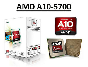 AMD A10-5700 Quad Core Processor 3.4 - 4.0 GHz, Socket FM2, 65W CPU