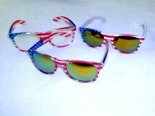 American Flag Sunglasses 3 Pair 100% UV Protection Show Your Patriotic Pride #A1