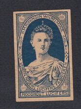 Ancienne  étiquette   allumettes Hollande BN67748 Reine Wilhumina