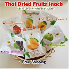 6 * Dehydrated Fruits Thai Dried Fruit Snack Delicious Mixed Flavors Free Ship