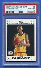 2007 KEVIN DURANT ROOKIE PSA 8 NM-MT 'TOPPS ROOKIE CARD' SUPERSONICS (#2) ~RZC