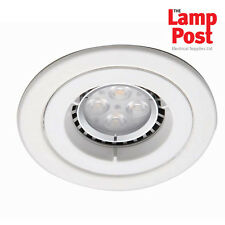 Ansell iCage Fire Rated Downlight Spot Light Fixed - Matt White AMICD/MW
