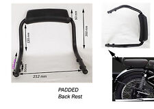 BLACK REAR BACK REST GRAB BAR UNIVERSAL MOTORCYCLE Bike seat Rear @UK
