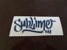 Sublime Graffiti decal sticker die cut vinyl  Car and Truck BLUE