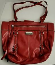 Franco Sarto Women's Red Large Handbag Purse 100% PVC Genuine Rare