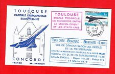 FDC-SUPERSONIC CONCORDE-FIRST FLIGHT-BENGHASI-LYBIE-VOL EXPERIMENTALFRA/BRI-1973