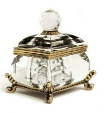 Crystal Trinket box  Fabergé  hand made by keren Kopal with crystal