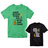 New Scooby Doo Pass Shaggy the Baggy T Shirt Marijuana Pot tee Funny