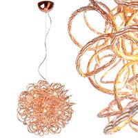 Hängelampe Kupfer Design Pendelleuchte Kugel Lampe Luxus Deckenlampe Rosegold