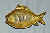 Schale in Fisch-Form, Messing, 12 cm