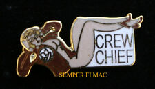 CREW CHIEF AIRPLANE NOSE ART HAT LAPEL PIN UP PILOT WING SOLO GIFT MILE HIGH WOW