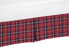 Red Woodland Plaid Rustic Patch Sweet Jojo Baby Boy Crib Bed Skirt Dust Ruffle