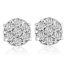 1/4cttw Diamond Cluster Studs in 10k White Gold