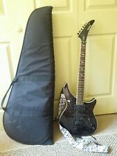 Epiphone EM-2 Custom Prophecy Guitar Electric Gray Black Levy's Strap Soft Case