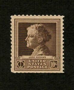 US 1940 #878 - 10c Jane Addams Famous Americans Mint MLH VF