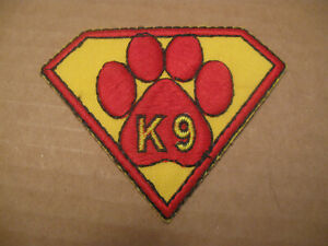 SUPERMAN/SUPERDOG DOG PAW GENERIC K9 POLICE PATCH (SMALL 2 1/4 TALL 3 INCH WIDE)