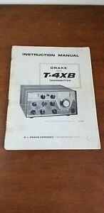 DRAKE USER INSTRUCTION  MANUAL T4XB TRANSMITTER  - Original