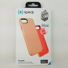 Speck Presidio Case Peach Orange iPhone 8 7 6 6S Slim Protection