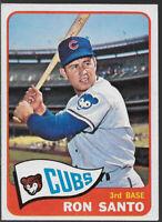 1965 Topps #110, Ron Santo, Chicago Cubs Baseball Card, HOF, Condition EX