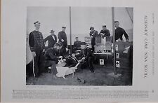 1897 BOER WAR ALDERSHOT CAMP NOVA SCOTIA HOSPITAL TENT CANADIAN ACTIVE MILITIA