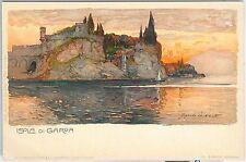 54679 -- CARTOLINA d'Epoca - LAGO di GARDA:  Isola di Garda ILLUSTRATA