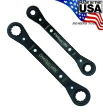 Channellock Ratcheting Wrench Set 2pc Metric MM 841M Made in USA