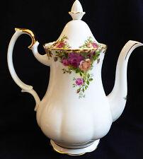 "Royal Albert Doulton England bone china Old Country Roses Coffee Pot 10.25"" tall"