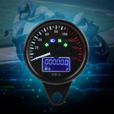 Universal Motorcycle LED LCD Digital Tachometer Speedometer Odometer Gauge 160KM