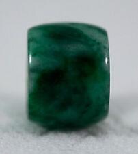 Type A Natural Burmese Jadeite Barrel Bead Pendant Charm Burma Jade #2