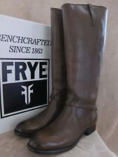 FRYE Womens Lindsay Plate Fawn Brown Leather Boots Shoes US 8 M EUR 38 - 39 NWB