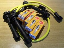 Yellow HT leads & NGK spark plugs lead set, Mazda MX5 mk2 1.6, 1998-2005 MX-5 NB